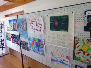 文化祭の展示の様子